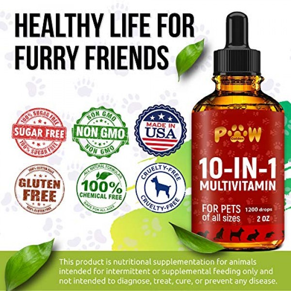 10 In 1 Cat & Dog Multivitamin - Hip & Joint Vitamins For Dogs + ...