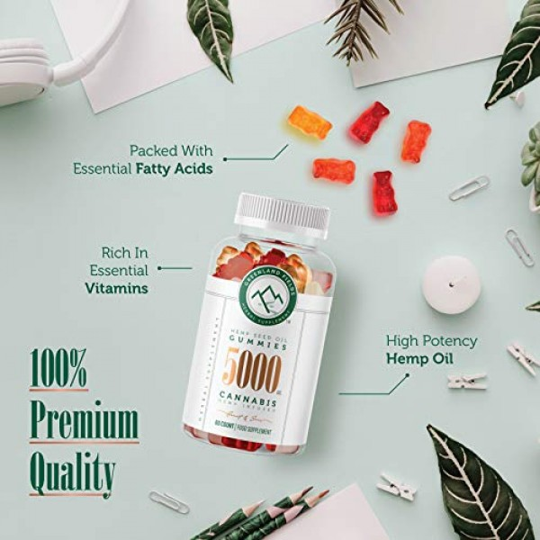 2-Pack Organic Hemp Chewy Bears - 5000MG - Active Joint & Muscl...