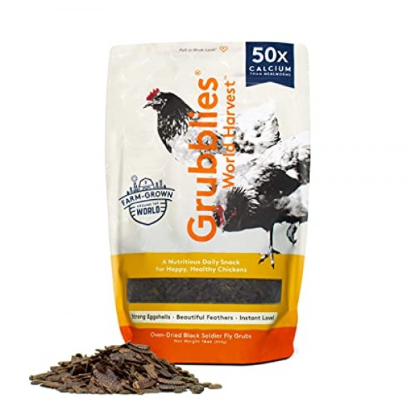 Grubblies World Harvest– Natural Grubs for Chickens - Chicken Fee...