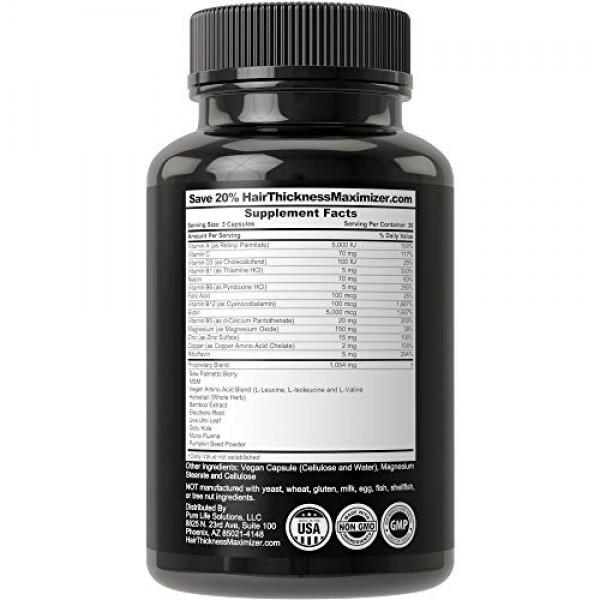 Beard Growth Pills for Men. Vegan Beard Vitamins Supplement for G...