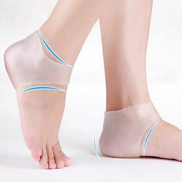 Plantar Fasciitis Silicone Heel Sock, Moisturizing Compression Sl...