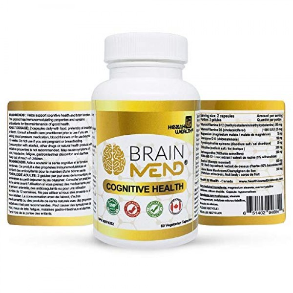 BRAINMEND Nootropic - Brain Supplement for Focus Memory Mental Cl...