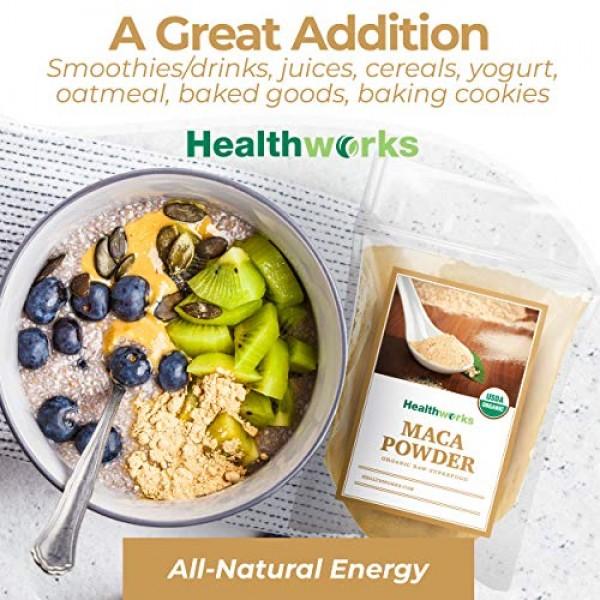 Healthworks Maca Powder Raw 16 Ounces / 1 Pound | Certified Org...