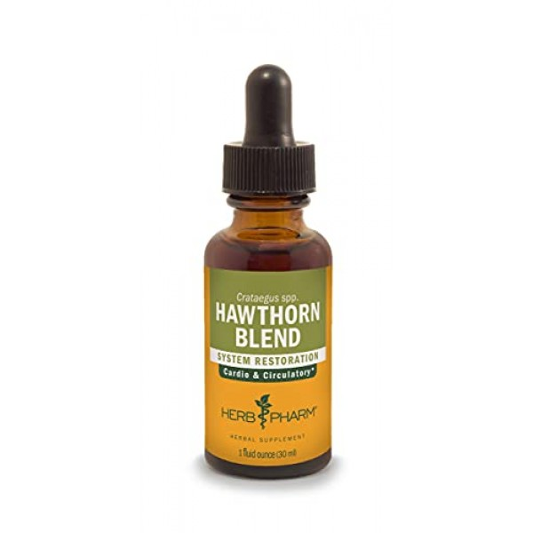 Herb Pharm Hawthorn Blend Liquid Extract for Cardiovascular and C...