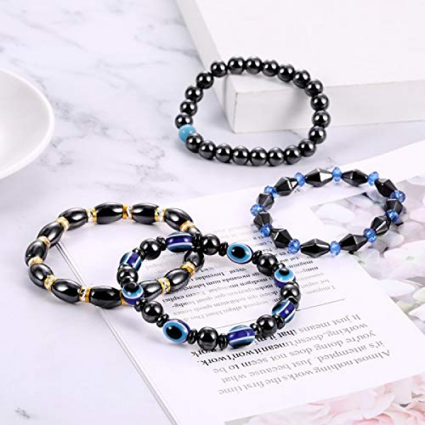 10 Pieces Magnetic Therapy Bracelet Energy Healing Bracelet Relie...