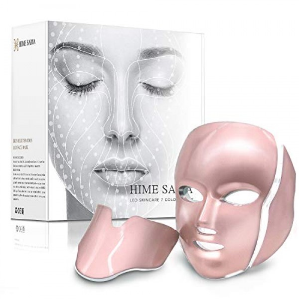 LED Skin Mask-CE Cleared Pro 7 LED Skin Care Mask for Face and Ne...