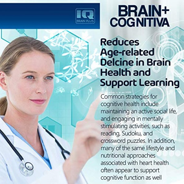Brain+ Cognitiva - Advanced Cognitive Support - Help Increase and...