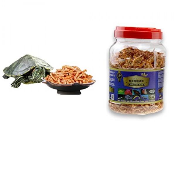3000ml Aquatic Turtle Food,101.44 oz, Floating Shrimp Krill Freez...