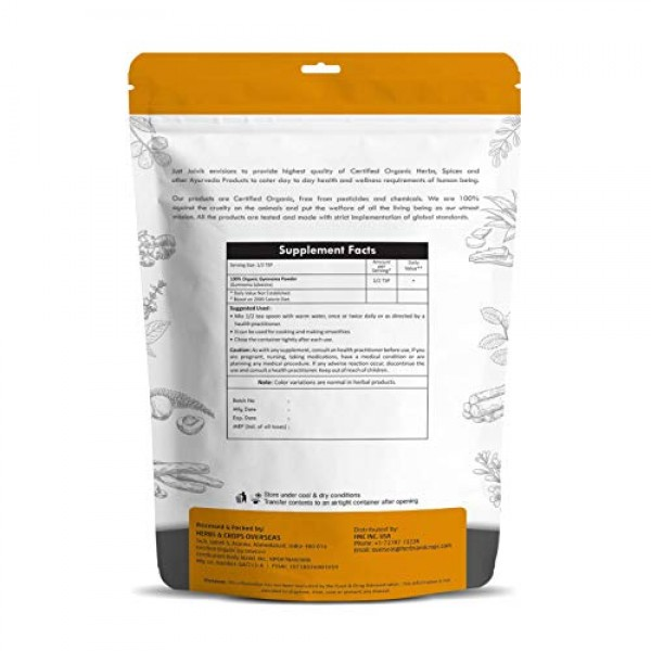 100% Organic Gymnema Leaf Powder 0.5 lb / 227g / 08 oz by Just ...