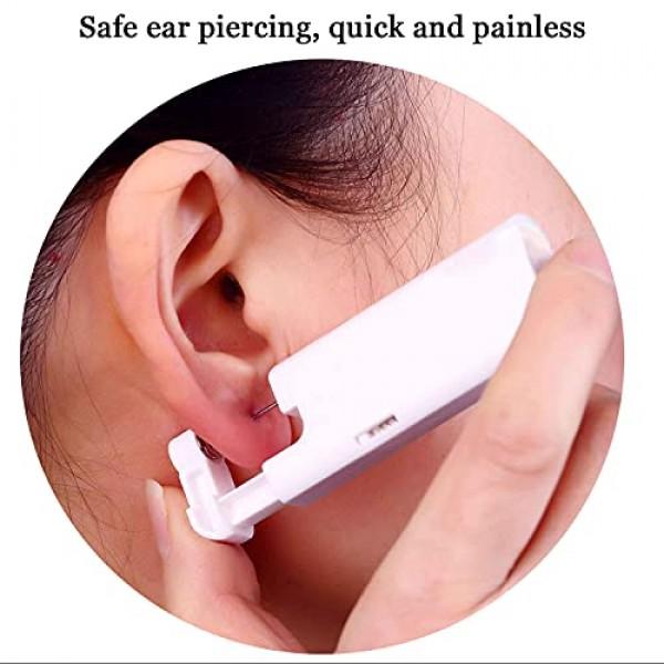 2PCS Ear Nail Gun Disposable Aseptic Household Ear Piercing Gun P...