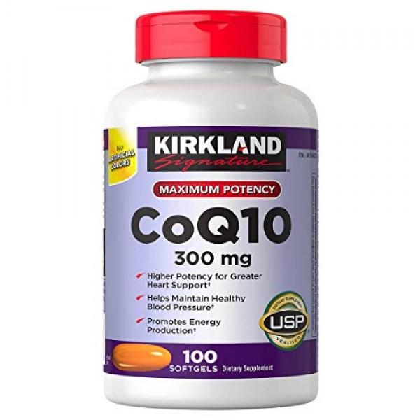 Kirkland Signature Coq10 300 Mg, 100 Softgels , Pack of 2