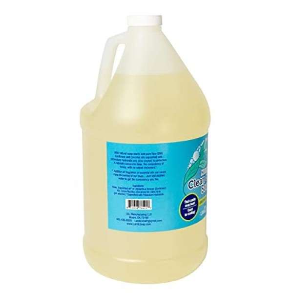 L and L Pure Castile Soap Liquid Unscented for Face, Hand & Body ...