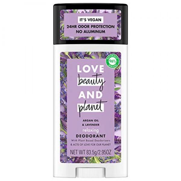 Love Beauty and Planet Aluminum-free Deodorant, Argan Oil and Lav...