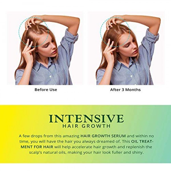Lumanere Hair Growth Serum Hair Growth Oil with Biotin 2 Pack – N...