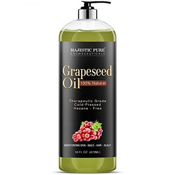 Majestic Pure Grapeseed Oil, Pure & Natural Massage and Carrier O...