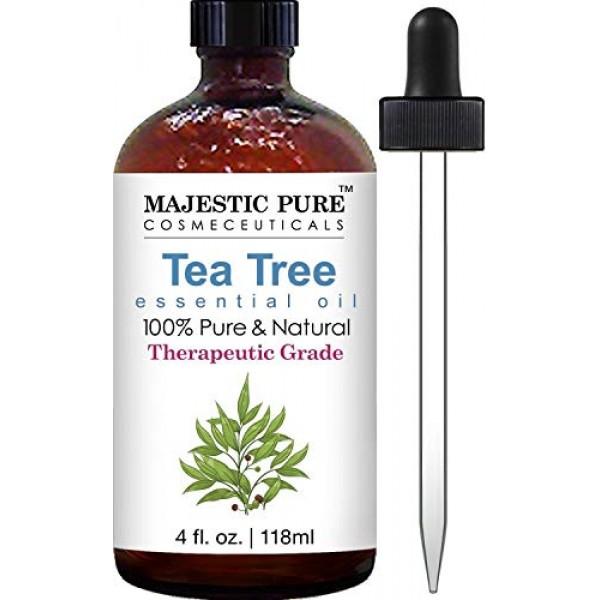 MAJESTIC PURE Tea Tree Oil - Pure and Natural Therapeutic Grade T...