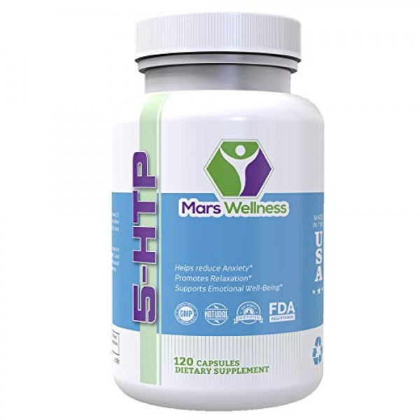5-HTP 200 mg Supplement - 120 Capsules Per Bottle - Mood Booster ...