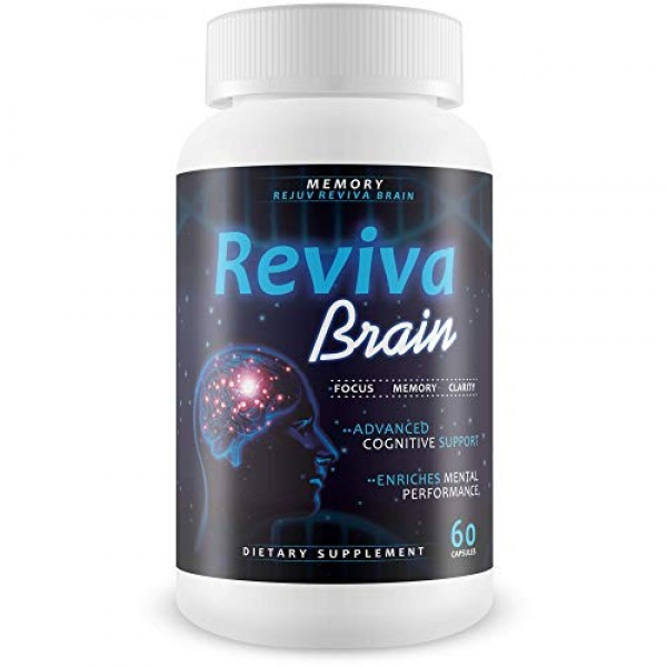 Reviva Brain Memory Rejuv - Advanced Cognitive Support - Enriches...