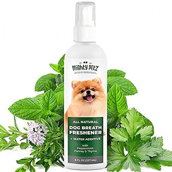 2-in-1 Dog Breath Freshener Spray & Water Additive – All Natural ...