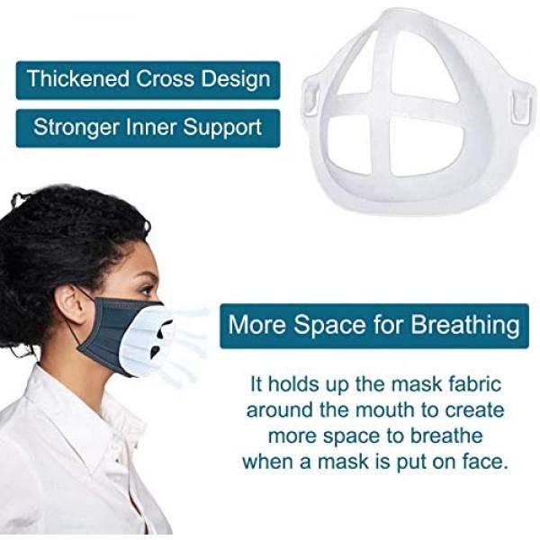 10 Pack 3D Face Mask Inner Support Frame, Plastic Mask insert, Ma...
