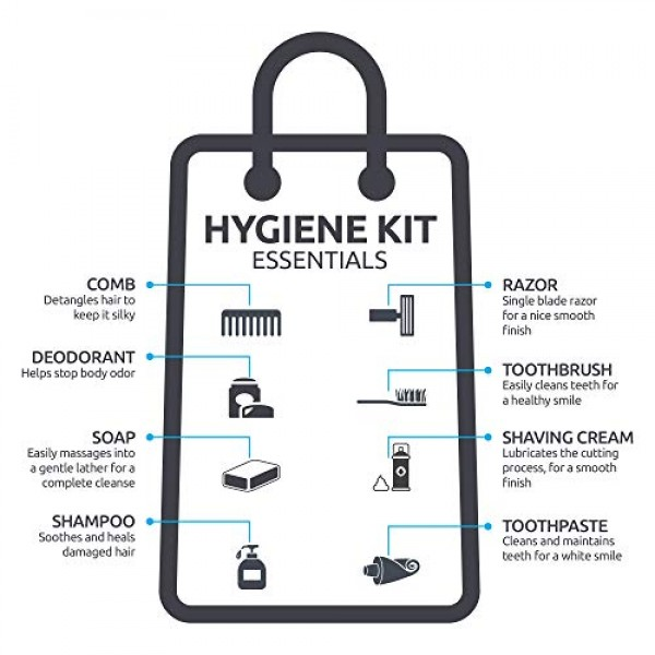 48 Kits - Bulk Case of Wholesale Deluxe 15 Piece Hygiene & Toilet...