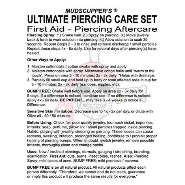 Mudscuppers Ultimate Piercing Care Set - Piercing Aftercare Trea...