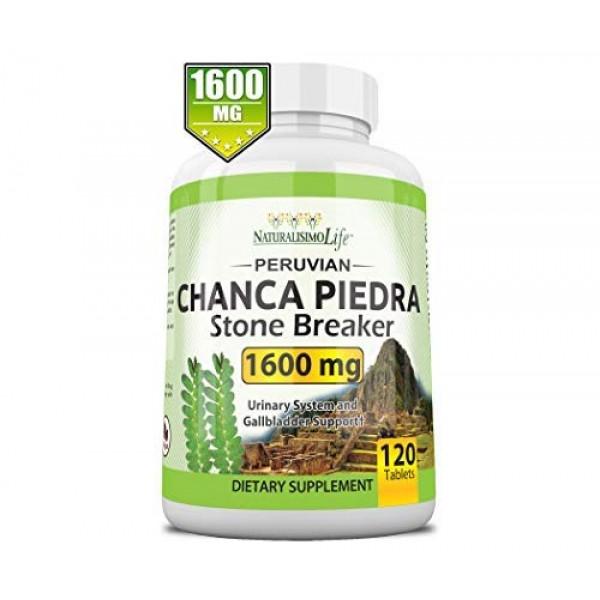 Chanca Piedra 1600 mg - 120 Tablets Kidney Stone Crusher Gallblad...