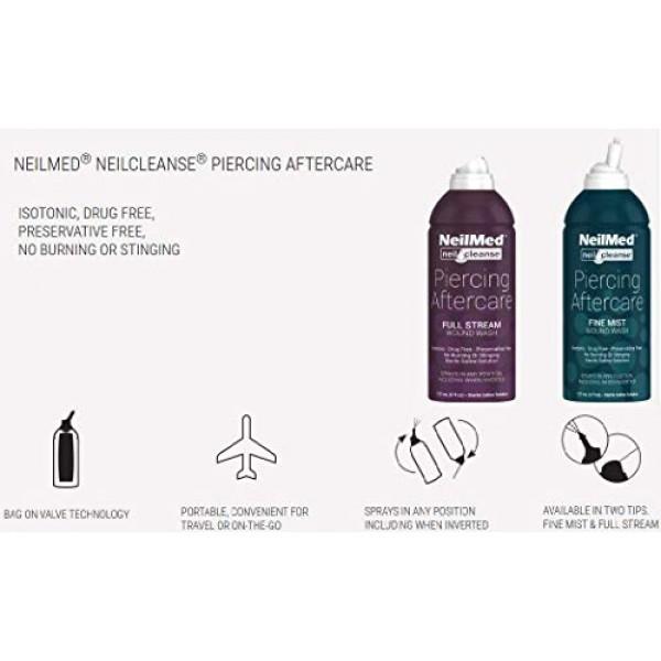 NeilMed NeilCleanse Piercing Aftercare, Fine Mist, 6.3 Fluid Ounce