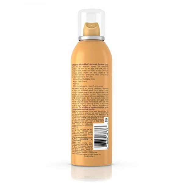 Neutrogena Micro-Mist Airbrush Sunless Tan Spray, Deep 5.3 oz Pac...