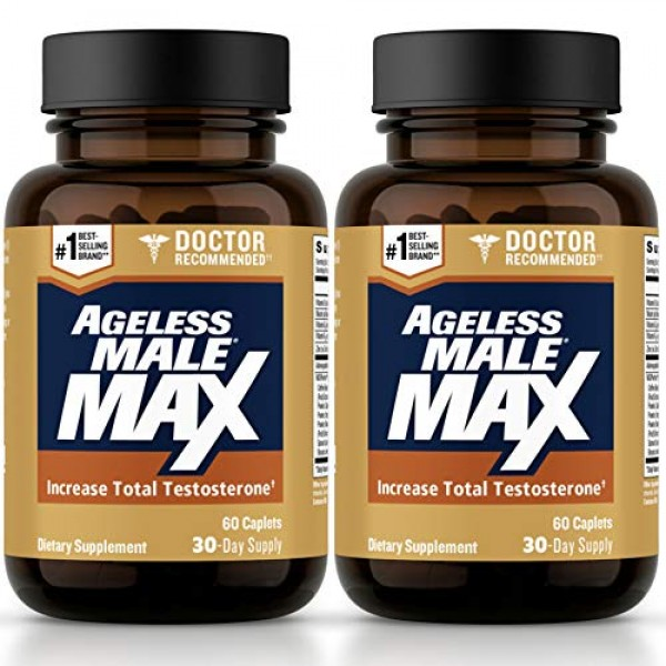 Ageless Male Max Total T Boost for Men – Increase Ni...