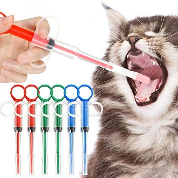 Nuanchu 6 Pieces Pet Medicine Feeding Syringe Pet Tablet Syringe ...
