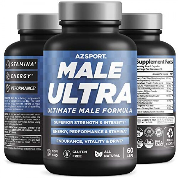 AZS Premium Male Ultra, [9 Potent Herbs] Ultimate Male Formula to...