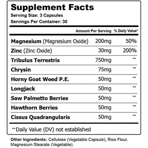 3 Pack Potenca Male Strength Support Formula, Potenza Pills - 2...