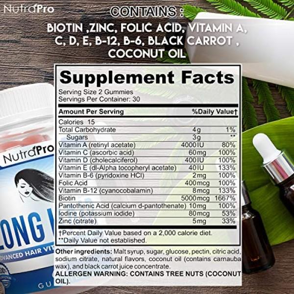 Long Hair Gummies – Anti-Hair Loss Supplement for Fast Hair Growt...