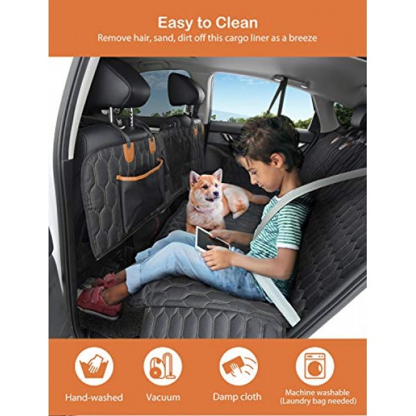 4-in-1 Dog Car Seat Cover, OKMEE Convertible Dog Hammock Scratchp...