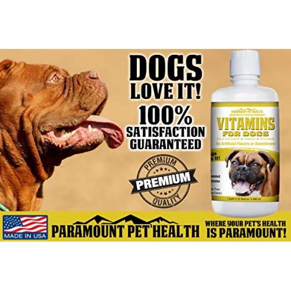 100% Natural Dog Vitamins and Supplements - Liquid Multivitamin f...