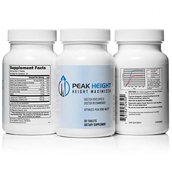 1 Grow Taller Height Pill Supplement-Peak Height 6 Month Supply-H...