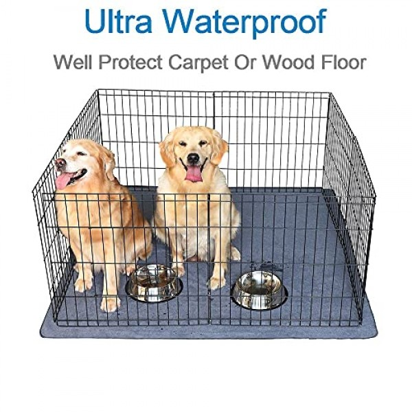 2PCS Non-Slip Dog Pads Large 54 x 54, Washable Puppy Pads with ...