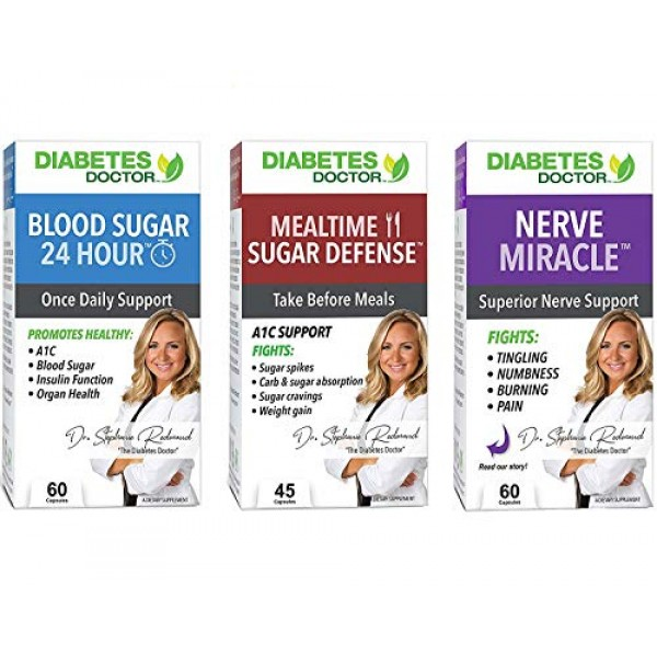 Diabetes Doctor Complete 3 in 1 Bundle - Daily Support, Nerve Hea...