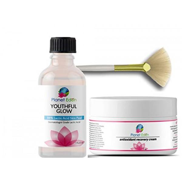 Planet Eden 88% Lactic Acid Skin Chemical Peel Kit with Antioxida...