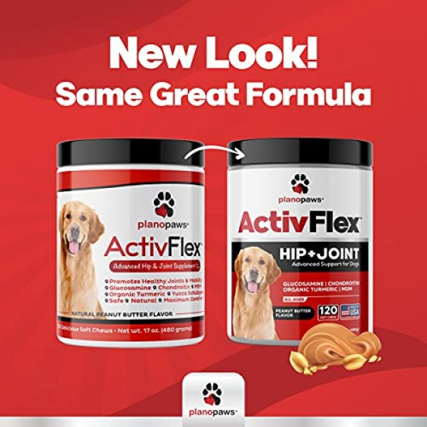 ActivFlex - Glucosamine for Dogs Hip and Joint Supplement - Safe ...