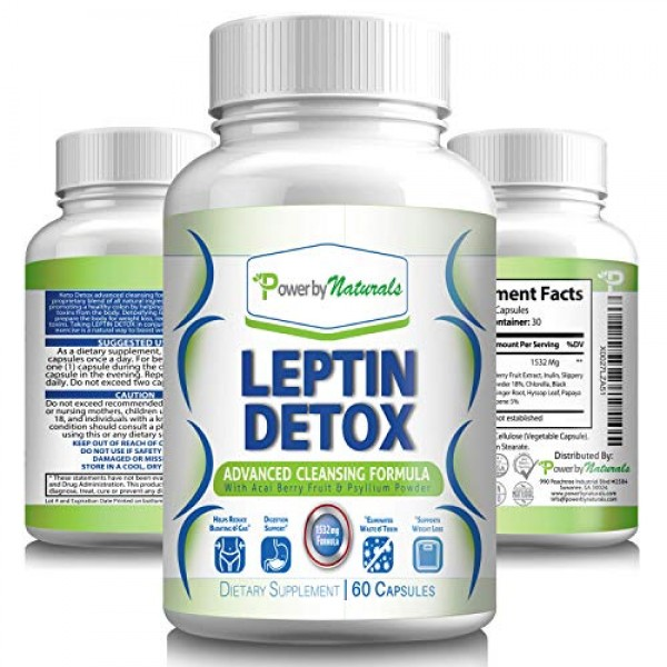 Power by Naturals Leptin Detox Advanced Colon Cleanser, Weight-Lo...