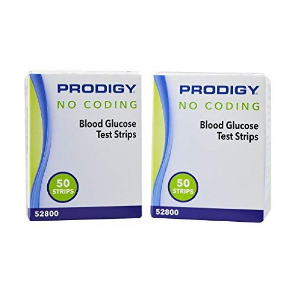 Prodigy No Coding Blood Glucose Test Strips 300 Count 50 Strips ...