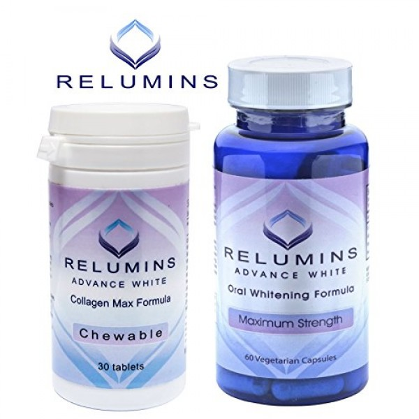 Authentic Relumins Oral Glutathione & Collagen Stack - Advance Wh...