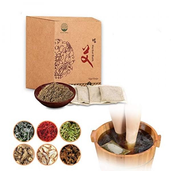 Mugwort Herbal Bath Soak Chinese Medicinal Herbs Foot Soak Bath T...