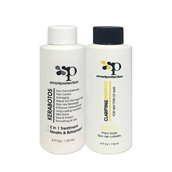 Kerabotos & Clarifying Shampoo 4oz - 2 in 1 Treatment – Keratin +...