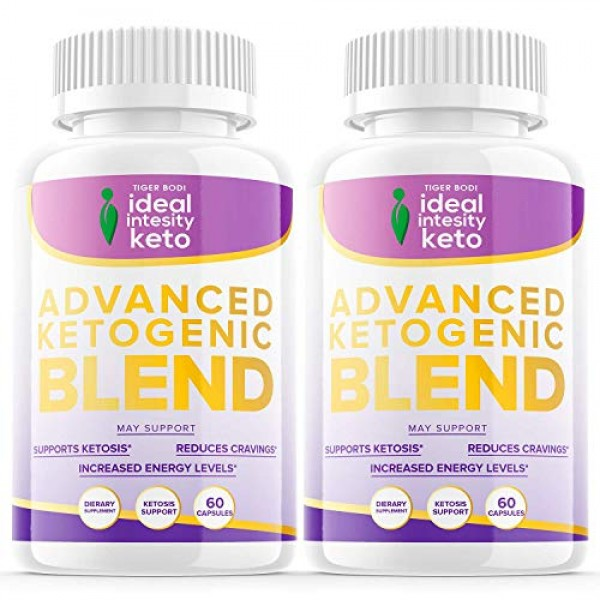 2 Pack Ideal Intensity Keto Pills Advanced Ketogenic Blend 120...