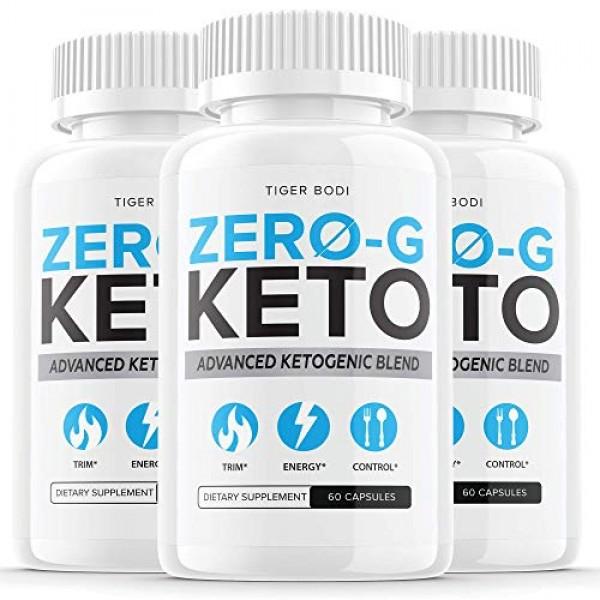 3 Pack Zero G Keto Pills Zero-G Keto Capsules Powder Tablets Su...