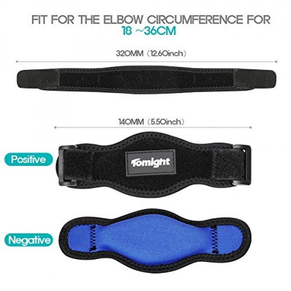 Tomight [2 Pack] Elbow Brace, Tennis Elbow Brace with Compression...