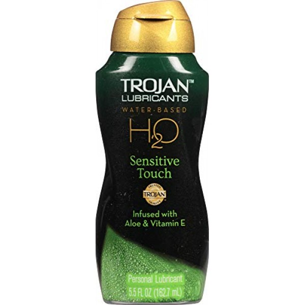 Trojan Lubes Lubricant H2O Sensitive Touch Paraben Free Water bas...
